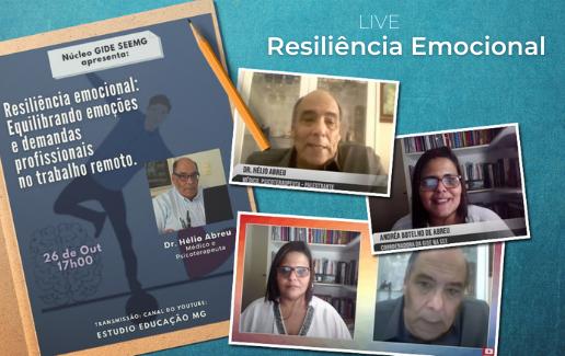 """Live """"Resiliência emocional: Equilibrando emoções e demandas profissionais no trabalho remoto"""""""