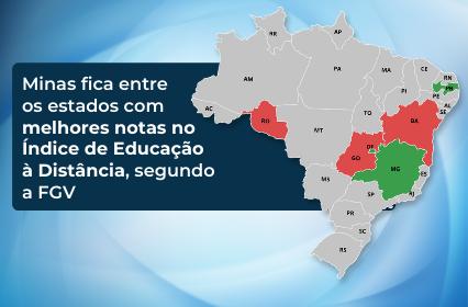 Minas fica entre os estados com melhores notas no Índice de Educação à Distância, segundo a FGV