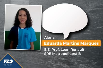 Read more about the article Depoimento da Aluna Eduarda Martins Marques
