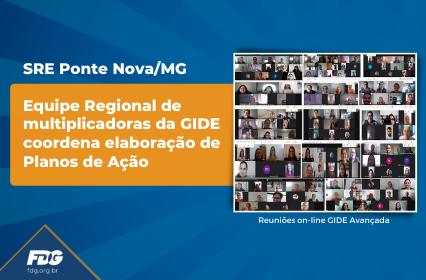 SRE Ponte Nova – Equipe Regional de multiplicadoras da GIDE coordena elaboração de Planos de Ação