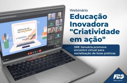 """Read more about the article Webinário Educação Inovadora """"Criatividade em ação"""""""