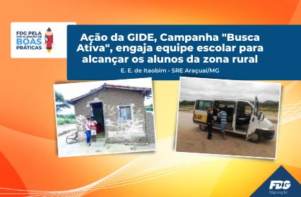 """Read more about the article Ação da GIDE, Campanha """"Busca Ativa"""", engaja equipe escolar para alcançar os alunos da zona rural"""